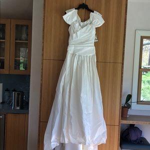 Alfred Angelo white taffeta wedding gown